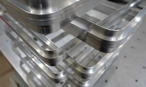 Thin Walled aluminium curved to a tight radius (High)