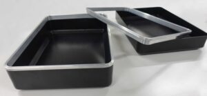 Thin walled aluminium curved to tight radius for first aid box
