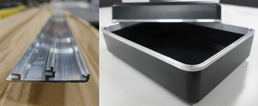 Example of thin walled aluminium section bending