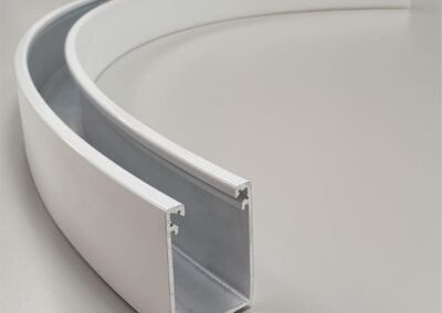 Perfectly curved aluminium channel extrusion The Hard Way