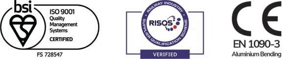 Aluminium Bending Quality Certificates Alubend ISO9001 EN1090 RISQS